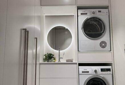 Majapidamisruumi erilahendus, värvitud MDF